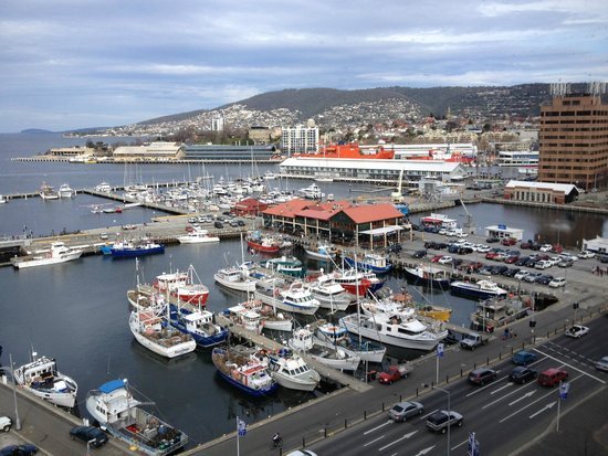 Grand Chancellor Hotel Hobart: View from room overlooking Hobart Harbour