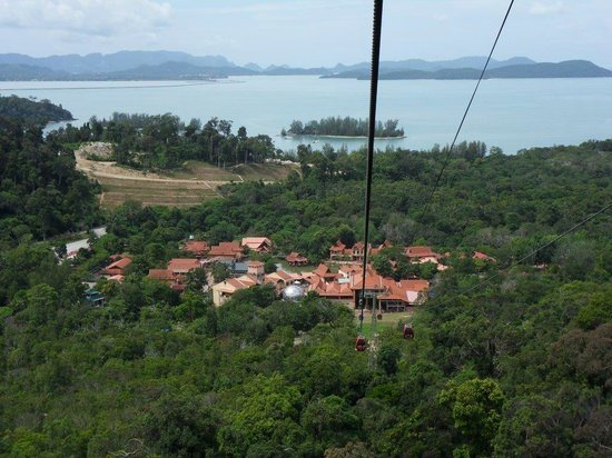 Langkawi Cable Car (Panorama Langkawi Sdn Bhd): View from half way up