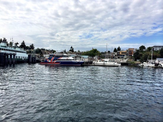Puget Sound Express - Day Trips : Coming into Friday Harbor for Lunch