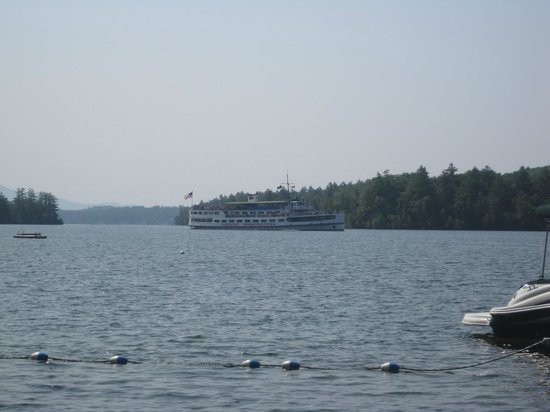 Lake Shore Motel & Cottages : The view from beach front of the property