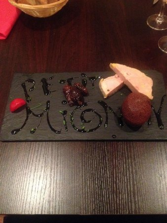 Petit Mignon : Foie gras menu