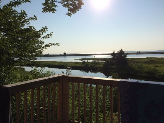 Cabot Shores Wilderness Resort : View from red yurt.