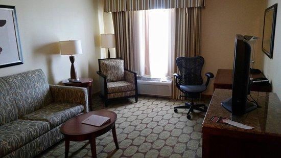 Hilton Garden Inn Lake Buena Vista/Orlando: Living room of King Evolution Suite.