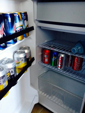 Hotel Riu Palace Paradise Island : Stocked Fridge