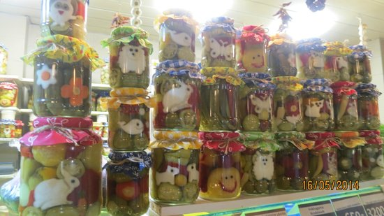 Central Market Hall: funny pickles
