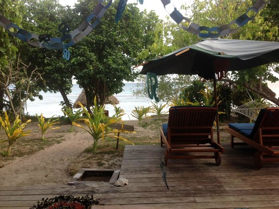 Blue Lagoon Beach Resort: View from our villa