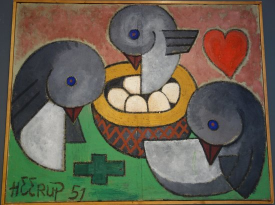 Henry Heerup Maleri Bild Von Brandts Museum For Art Visual