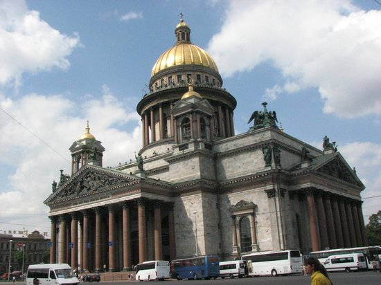St. Isaac's Cathedral State Museum-Memorial: View of dome - and walkway
