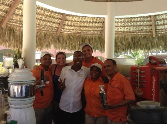Secrets Royal Beach Punta Cana: we had so much fun with this prefered pool staff...thanks for making our stay so fun!  Amazing t
