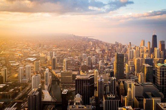 Skydeck Chicago - Willis Tower : Vista desde la torre Willis