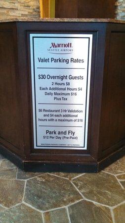 Seattle Airport Marriott : parking scam