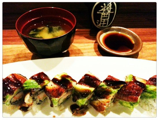 Haru : Dragon roll with soup