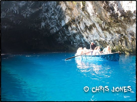Melissani Cave: some people