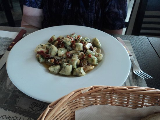 Corleone Restorante Pizzeria Andel : Gnocchi with a garden vegetable sauce