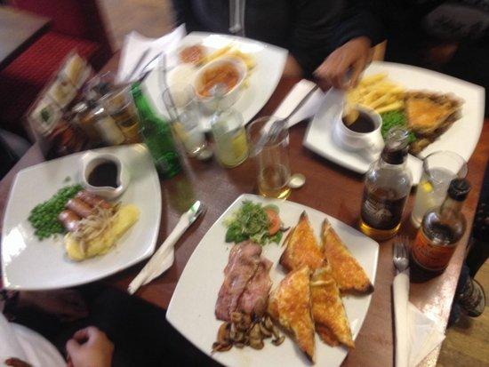 Truffles: Curry, meat pie, rarebit & bangers & mash