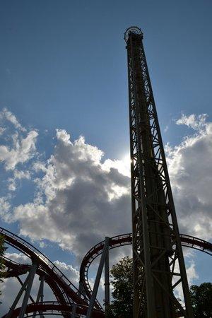 Tivoli: Some of the bigger rollercoasters