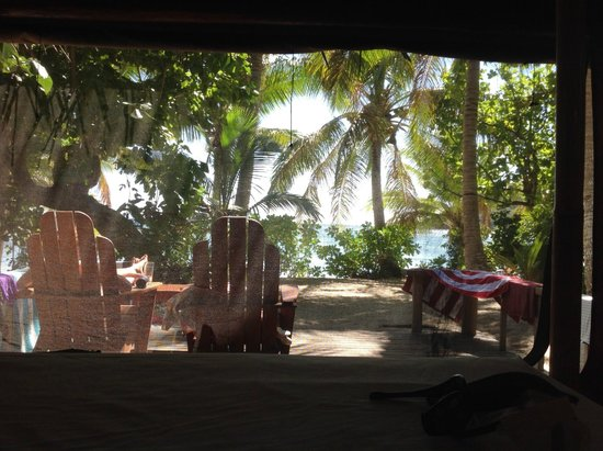 Barefoot Manta Island: looking out from our room