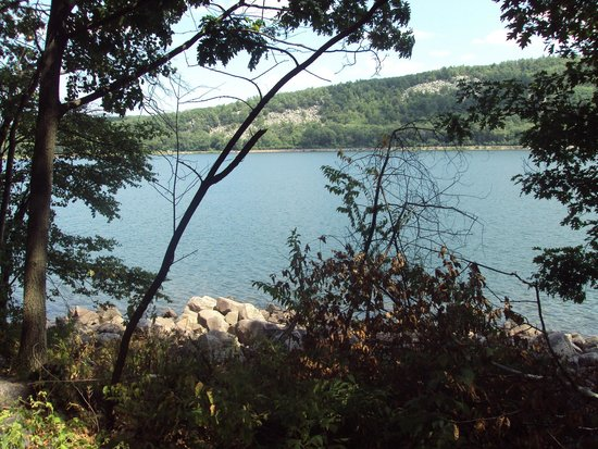 Devil's Lake State Park: View from walking trail.