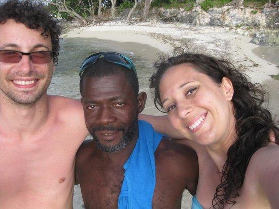 Booby Cay Island: Me, Dereck e Chiara