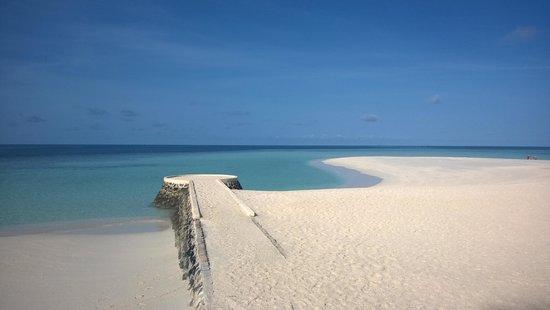 VOI Dhiggiri Resort: lingua di sabbia