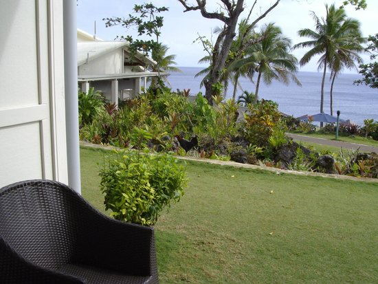 Scenic Matavai Resort Niue: view from our ocean view room