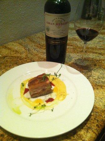Steinbeck's Restaurant : Delicioso Cerdo confitado....