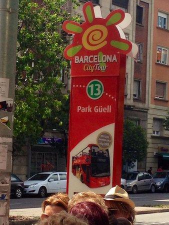 Barcelona City Tour : Так выглядят остановки