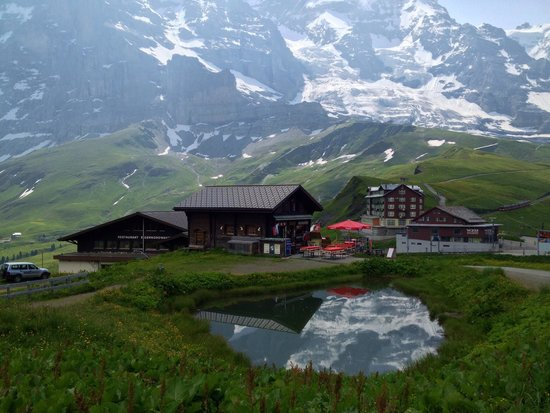 Kleine Scheidegg: もうすぐクライネ•シャイデック(メンリッヒェンからハイキング)