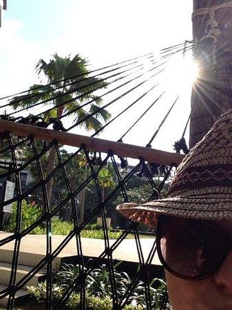 Pullman Bali Legian Nirwana: on the hammock at the pullman