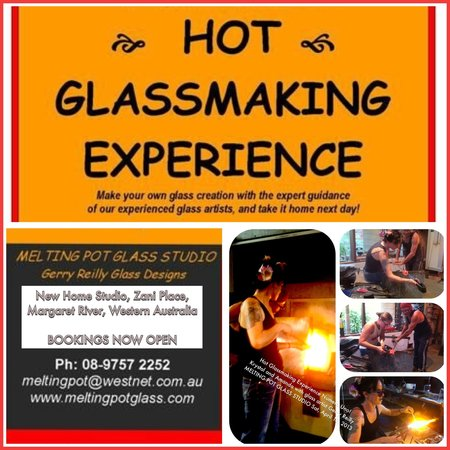 Melting Pot Glass Studio: Make your own hot glass piece with our glassmaking experience - 1 hour/half day/full day. Bookin