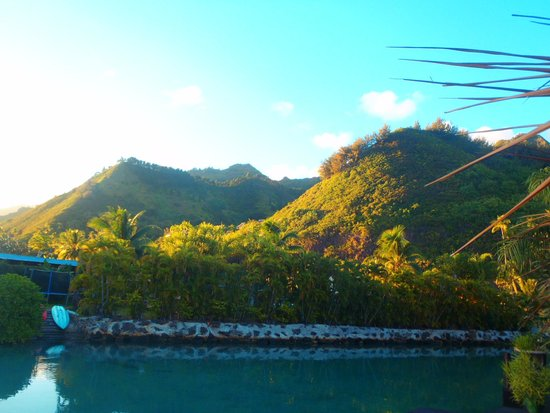Fenua Mata'i'oa : Our view from the hotel. Rental boats are across the way.