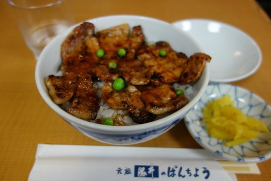 Butadon Pancho : お肉の一番少ない「松」