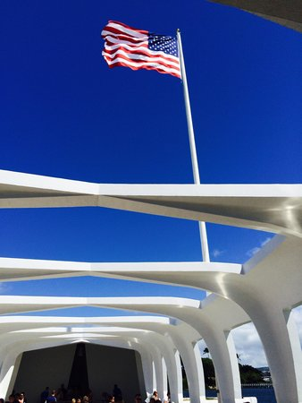 USS Arizona Memorial/World War II Valor in the Pacific National Monument: God bless America