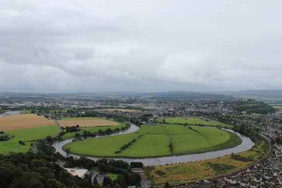 National Wallace Monument: View from the top of where the English met their fate
