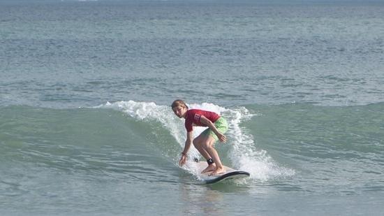 Rip Curl School Of Surf : my son at rip curl kuta beach