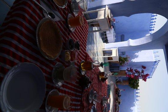 Casa Perleta : Desayuno en la terraza de la azotea