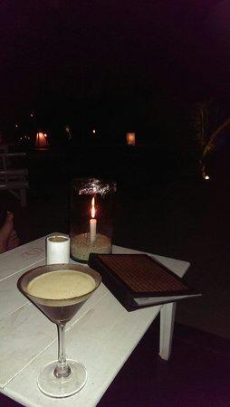 Fisherman's Restaurant & Bar : Espresso martini on the beach