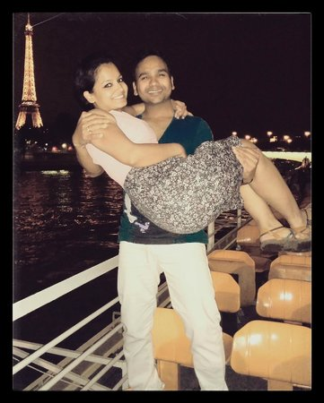 Bateaux Mouches: Me & My Wife (In front of Effiel Tower)