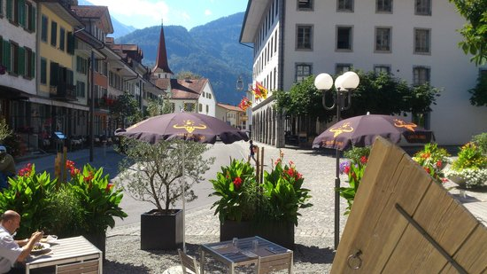 Interlaken Unterseen - Benacus - view to old town