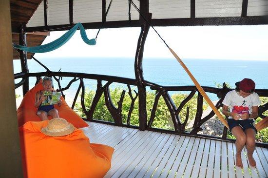 Tantawan Bungalow: uitzicht seaview suite en ruime veranda