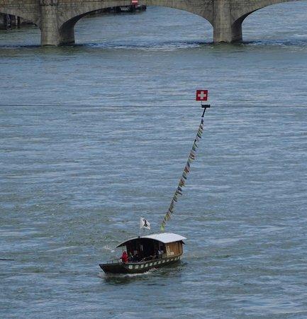 Rheinfähre: view from a bridge