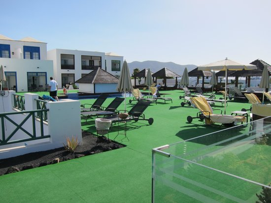 Hotel THe Volcán Lanzarote: Club Pooldeck
