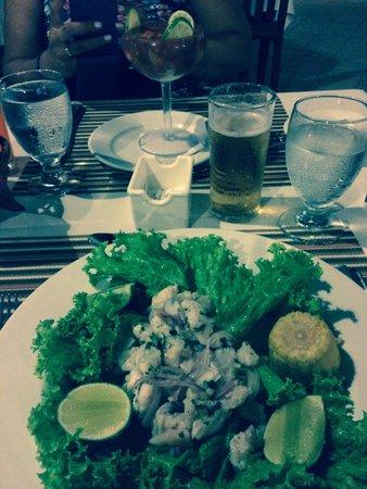 VIK Hotel Arena Blanca : Ceviche de pescado en el bucanero