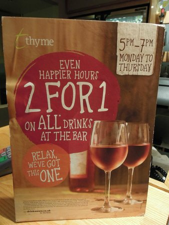 Premier Inn Liverpool City Centre (Moorfields) Hotel: The current (as of August 2014) happy hour offer