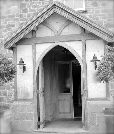 The Hartnoll Hotel's original front door