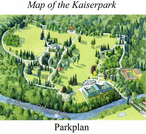 Kaiser-Villa: Карта парка Kaiser Villa