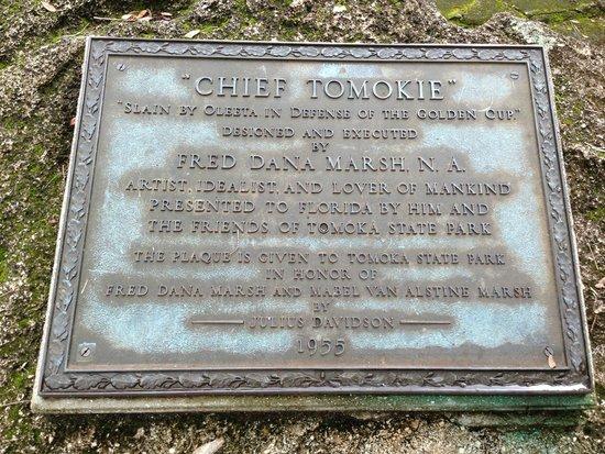 Tomoka State Park Statue Plaque - Florida