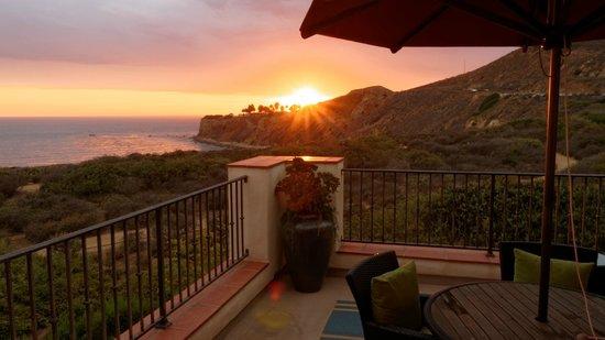 Terranea Resort : Coucher de soleil depuis terrasse d'une casita