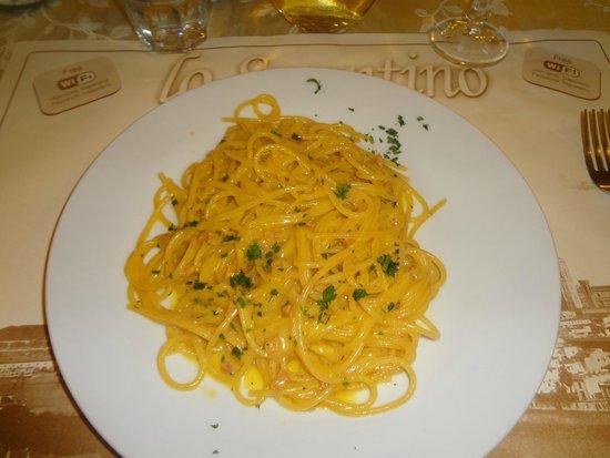 Pizzeria Lo Spuntino: Spaghetti Carbonara