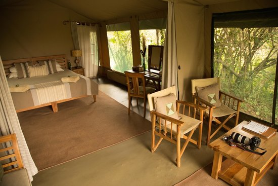 Rekero Camp, Asilia Africa: Watched the hippos down the river from this chair for a while..